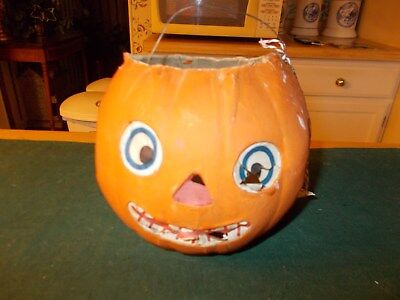 Made In Germany Jack Olantern Made Of Cardbaord With Paper Eyes Nose And Mouth