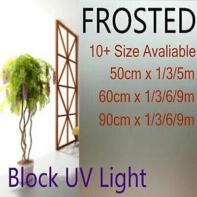 Privacy Glass Decorative Frosted Window Film Frosting 45 50 60 76 90 120cm