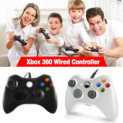 Generic Wired Controller for Windows for Xbox 360 Console PC USB  Black White