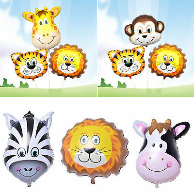 Animal Head Balloons Helium Foil Ballons Baby Shower Birthday Party Decoration++