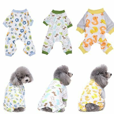 Pet Dog Pajamas Cotton Clothes Chihuahua Yorkie Puppy Clothing for Dog Jumpsuit