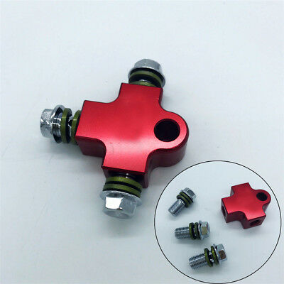CNC Motorcycle Hydraulic Brake Hose Line Tee Connector Coupling Fitting Adapter