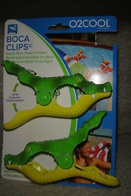"""1-Set Of Boca Chair Clips """"alligators"""" New On Card!  Perfect For Cruises!"""