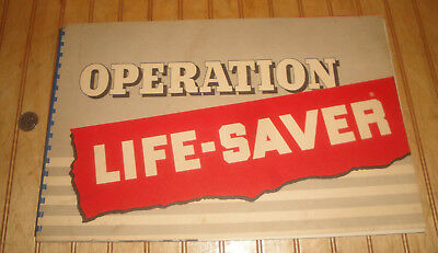 Vintage 1952 BF Goodrich OPERATIONG LIFESAVER Tire Dealer's Ad Book/Promo Items