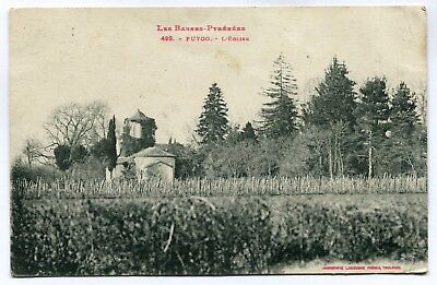 CPA - Carte Postale - France - Puyoo - L'Eglise - 1919 ( CP5348 )