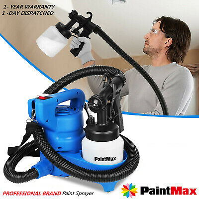 Electric Paint Painting Sprayer Adjustable 3-way Gun W/Copper Nozzle Cooling Sys