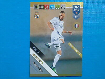 Panini Adrenalyn Fifa 365 2018-19 2019 n. 66 Karim Benzema Real Madrid