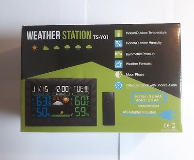 Digital Wireless Weather Station Colour Monitor LCD screen Outdoor/Indoor NEW
