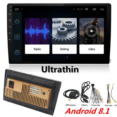 """10.1"""" Thin Pad Touch Car Android 8.1 Stereo Radio 2DIN Head GPS Wifi Bluetooth"""