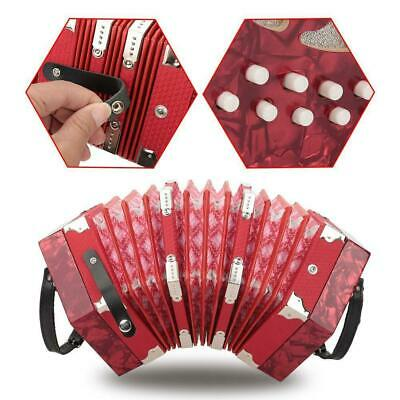 English Concertina Accordion Unisonoric Style 20 Key Buttons ABS Plastic Durable