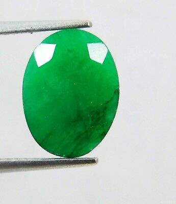 Natural 3.50 Ct Oval Cut Colombian Loose Emerald Gemstone. 11058 ERT