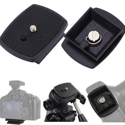 Black Quick Release Plate Screw Adapter Tripod Mount Head For Camera New