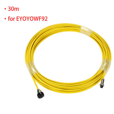 100feet Sewer Pipe Cable Cord Inspection Wire Yellow for Pipe Inspection Camera