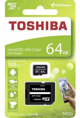 Toshiba 64GB Micro SD SDXC 100MB/s Memory card for Nextbase 312GW Dash Cam