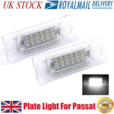 LED Licence Number Plate Light For VW Transporter T5 Caddy Touran Jetta Passat U