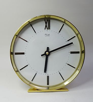 mid century design clock Elegante Tischuhr Kienzle Electric Uhr Messing ~ 60er