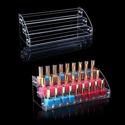 Bottles Holder Makeup Nail Polish Display Stand Organizer Rack Clear Acrylic NEW
