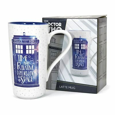 New Doctor Who TARDIS Galaxy Latte Mug Coffee Ceramic 500ml Official