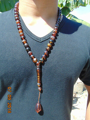 56 Gr 47 Round Beads Tasbih Misbaha Necklace Indonesian Amber 12 mm