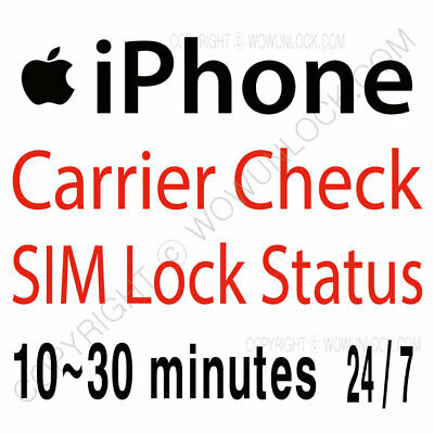 Fast Apple Official iPhone IMEI Network Carrier Check & SIM Lock Status