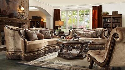 3 PC FORMAL Living Room Set European Furniture Sofa Chair Loveseat Chaise  Home