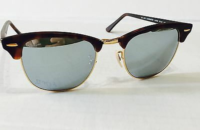 07165fba8ef Ray Ban RB3016 1145 30 HAVANA GOLD   SILVER MIRROR 51mm NEW AUTHENTIC  Clubmaster