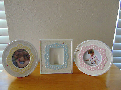 Lot of 3 New Set LENOX Butterfly Meadow Round Oval Square Photo Picture Frames