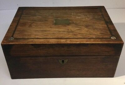 ANTIQUE 19TH CENTURY SOLID WOOD JEWELLERY / TRINKET / Box FOR RESTORATION.
