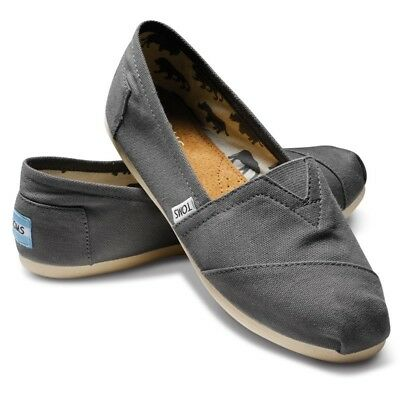Toms Mens Classic Canvas Gray Free Ship