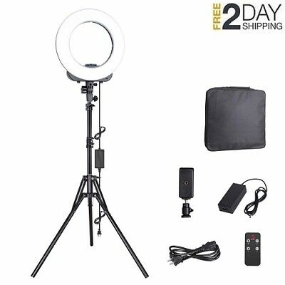 Camera Photo Video Lighting Kit, 14-inches Outer LED Ring Light for Smartphone