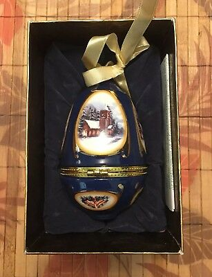 "Mr.Christmas Musical Egg Ornaments ""Church"" by Valerie Parr, Brand New"