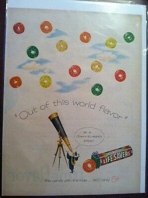 "Vintage Life Savers Candy Trix Cereal Advertisement 14"" x 10"""