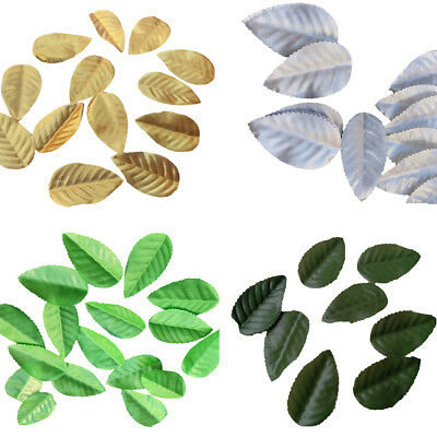 160PC Artificial Silk Leaf flowers Fake Leaves For Bouquet  Wedding Decor