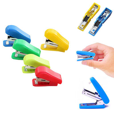 Random Color Student Use Stapler Cute Mini Solid Color Small For No. 10 Staples