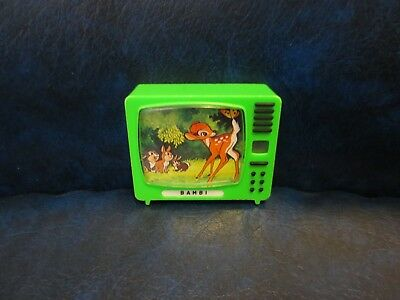 Disney Plastiskop Viewer Made In Germany Bambi Vintage Television Green Plastic
