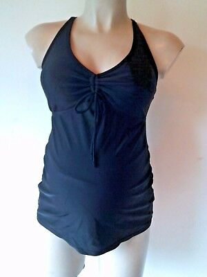 Jojo Maman Bebe Black Maternity Tankini Swimsuit Size M Uk 12-14