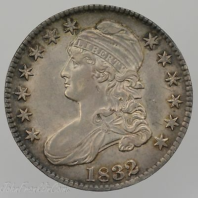 "1832 50c Capped Bust Half Dollar ""Lettered Edge"" AU/BU /W-275"