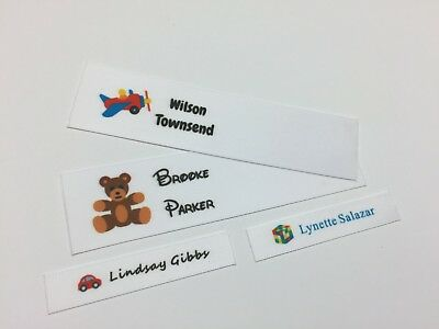 Personalised Sew In Full Colour Motif Name Labels Animals Nature Collection