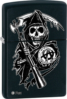 Zippo Lighter Sons of Anarchy-Grim Reaper Windproof USA New 28504