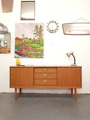 Vintage Retro Mid Century Sideboard Sliding Doors - Delivery - London SE15