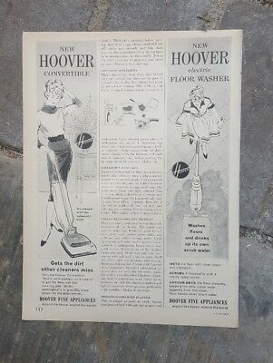 1960 print ad for New Hoover Convertible vacuum cleaner & floor washer