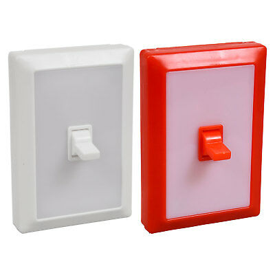 LED Wall Switch Lights Just stick it flick it and you have light Fun plastic