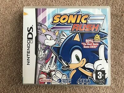 BOX ONLY Sonic Rush Nintendo DS Box Only