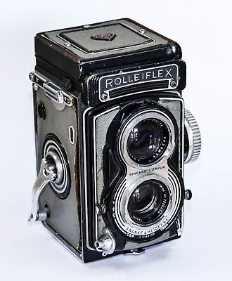 Rolleiflex T Grey with Carl Zeiss Tessar 75mm f3.5 lens - no case or strap