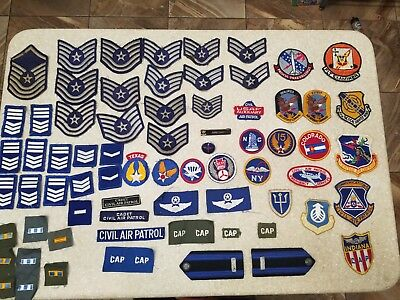 LOT 70 CIVIL AIR PATROL PATCHES Paratrooper USAAF pin badges named WWII & later