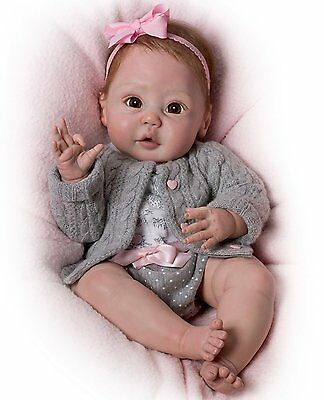 Ashton Drake CUDDLY COO Coos When Cuddled baby girl doll by Sherry Miller