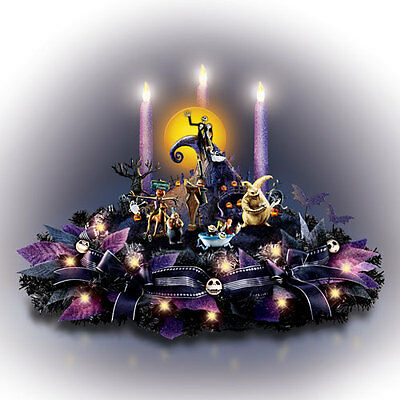 BRADFORD EXCHANGE-The Nightmare Before Christmas Light Up Musical Centerpiece