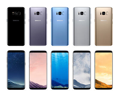 """Samsung Galaxy S8 T-Mobile At&t OR GSM UNLOCKED G950U 5.8"""" Smartphone SHADOW LCD"""