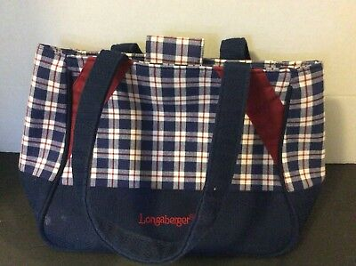 Longaberger Red,White,Blue Plaid Purse/Handbag/Tote