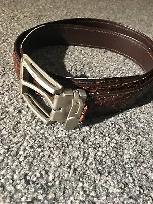Real Snake Skin Belt. Vintage With Belt Buckle. Please Read. 42 Inches Long.